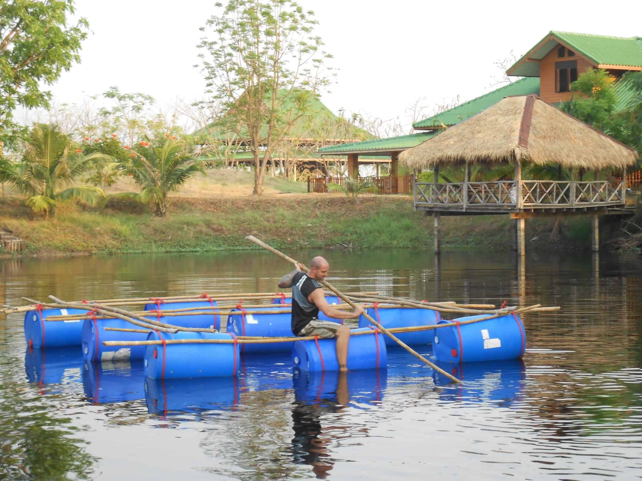 Paddling Tilapia Cage March 2013