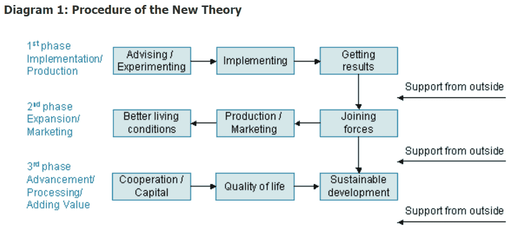 Diagram of New Theory King Thailand Permaculture
