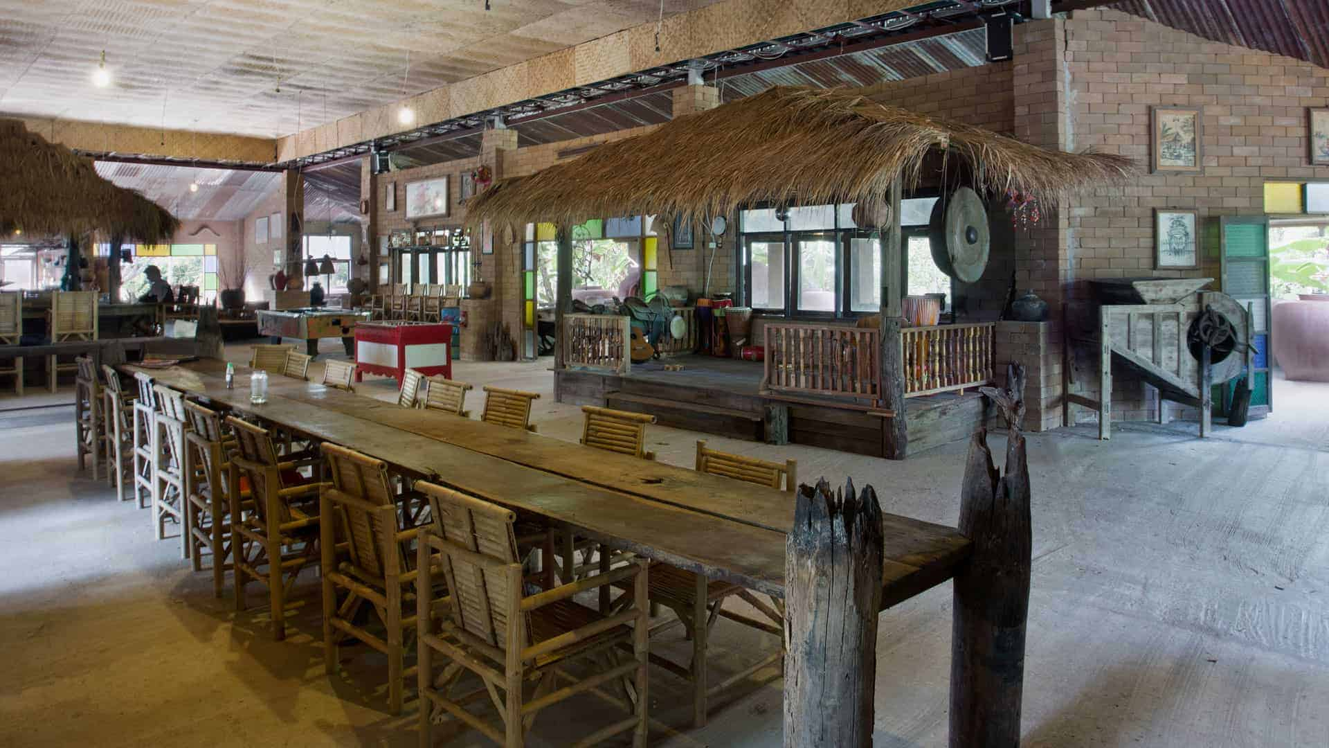 Image of the permaculture communal sala at Rak Tamachat