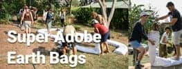 Online Permaculture Design Course Narual Buildign Course Super Adobe Earth Bags