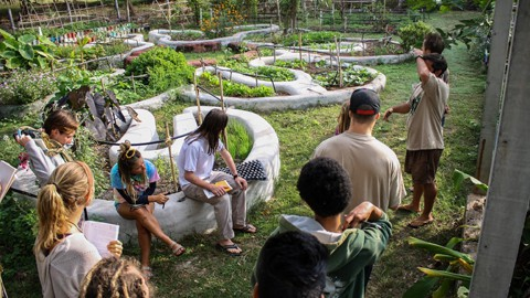Permaculture course in the Mandala Garden at Rak Tamachat Permaculture Thailand