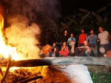 Rak Tamachat Community enjoying a Fire Night