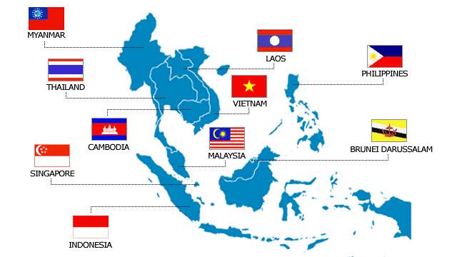 Permaculture Asia Course Discount ASEAN countries map